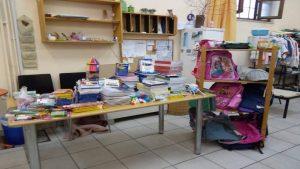 Προσφορά σχολικών ειδών στο Κοινωνικό Παντοπωλείο Δήμου Βόλου
